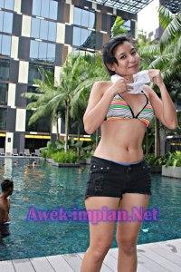 Awek cun body slim seksi berahi cerah gebu mengiurkan HOTS! + www.awek-impian.net 006